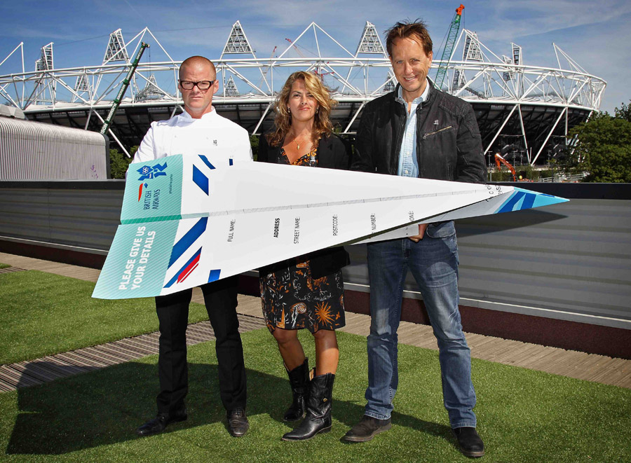 Heston Blumenthal, Tracey Emin and Richard E Grant launch the BA Great Britons Heroes programme, offering their skills and mentoring to three talented Brits in the fields of food, art and film.  For entry details, visit ba.com/greatbritons  BA is the official airline of the London 2012 Games