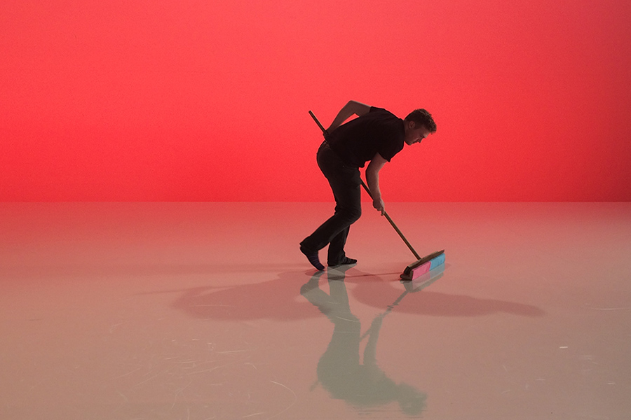 art direction company London Sweeping up on set